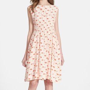 Kate Spade Flamino Blaire Smocked Waist Dress Sz 4